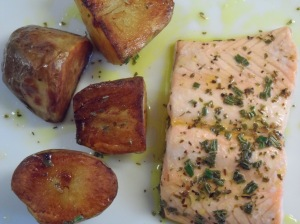 Low FODMAP Fillet of Salmon with Herbs