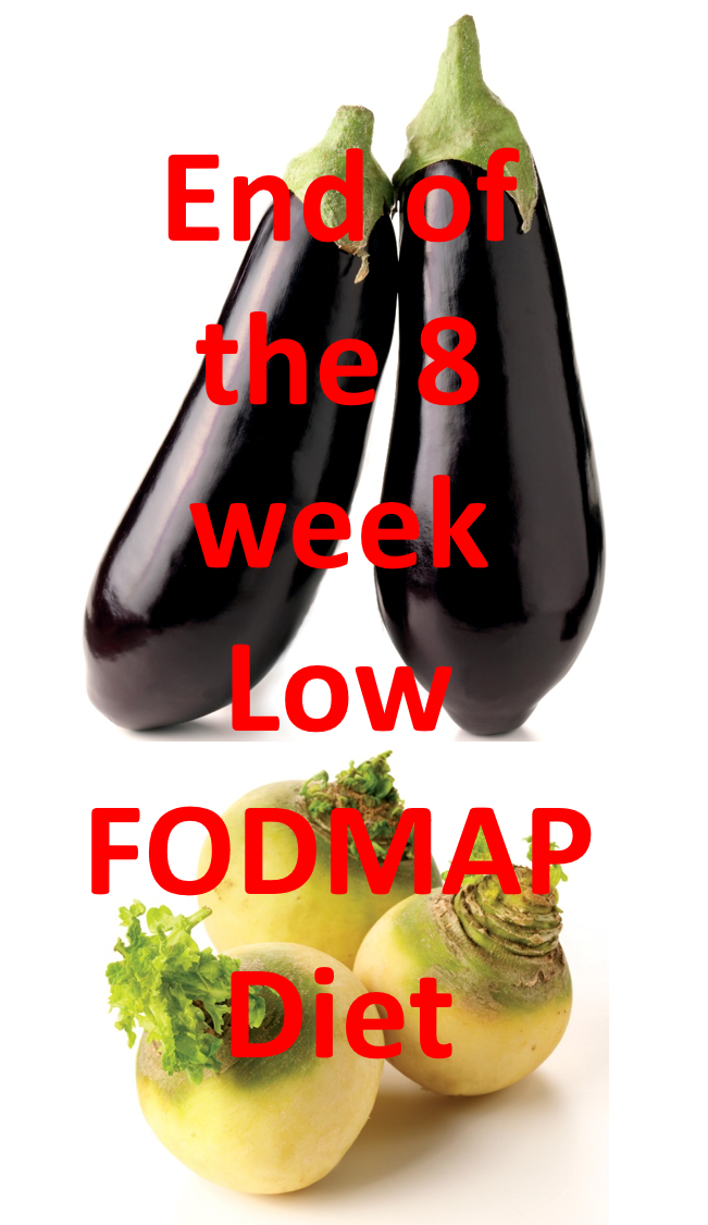 End of the 8 week low FODMAP diet