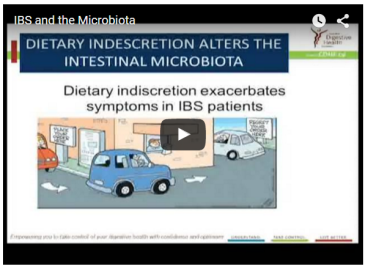What role does the gastrointestinal microbiota play in IBS symptoms