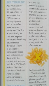 Good housekeeping FODMAP article