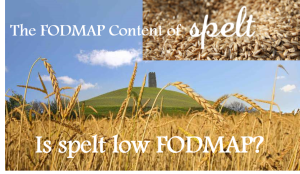 Useful blog post on spelt and FODMAPs